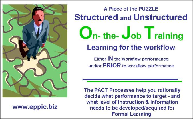 Structured and unstructured ojt eppic pursuing performance structured and unstructured ojt malvernweather Image collections