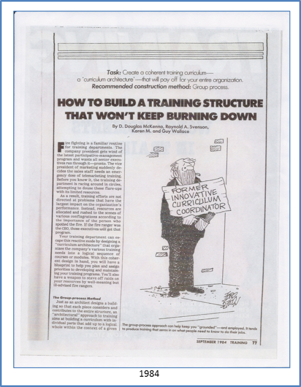 CAD Article Training Magazine 1984 med