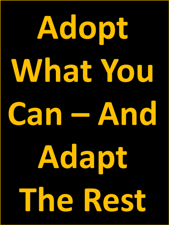 Adapt What You Cannot Adopt