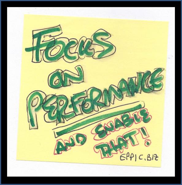 Focus on Performance Post-It Note slide