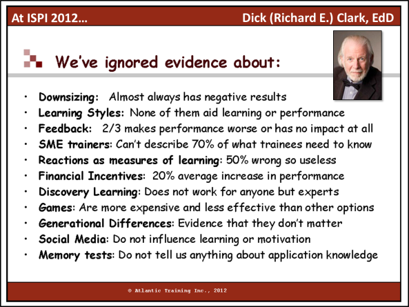 Clark - We ve ignored evidence