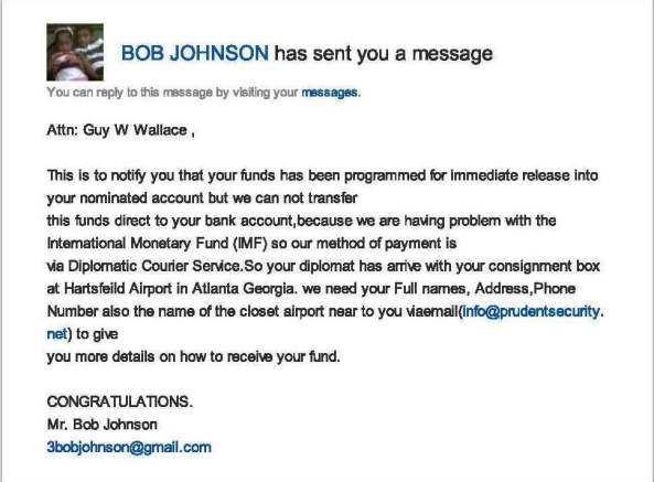 Gmail - BOB JOHNSON sent you a message
