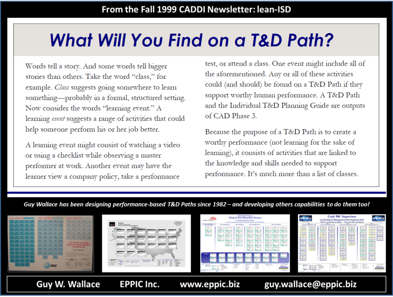 Whats On a TandD Path - from 1999