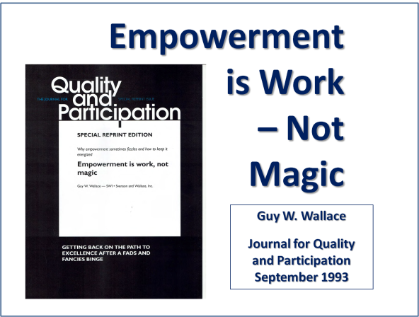 Empowerment Is Work - Not Magic 1993