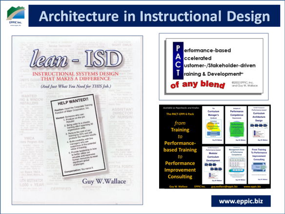 L D Architecture In Instructional Design Eppic Pursuing Performance