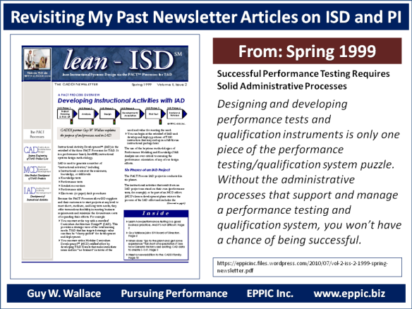 T D Revisiting My Past Newsletter Articles On Isd And Pi Eppic Pursuing Performance