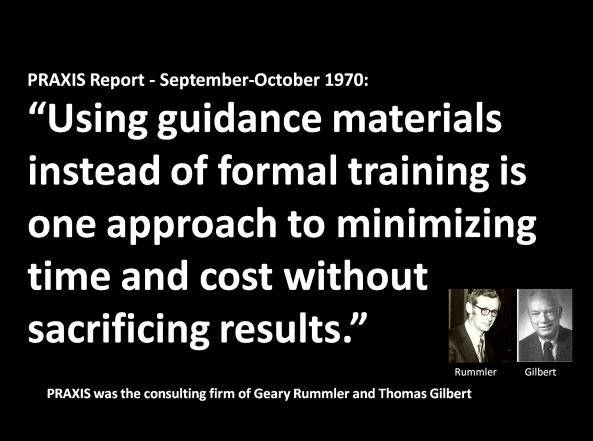 guidance-materials-rummler-gilbert-at-praxis-1970
