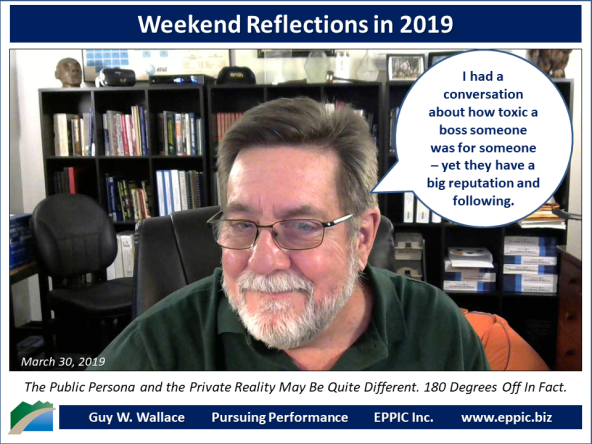 Weeked Reflections 2019-03-30