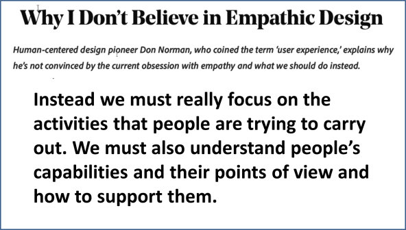 Don Norman Empathy in Design